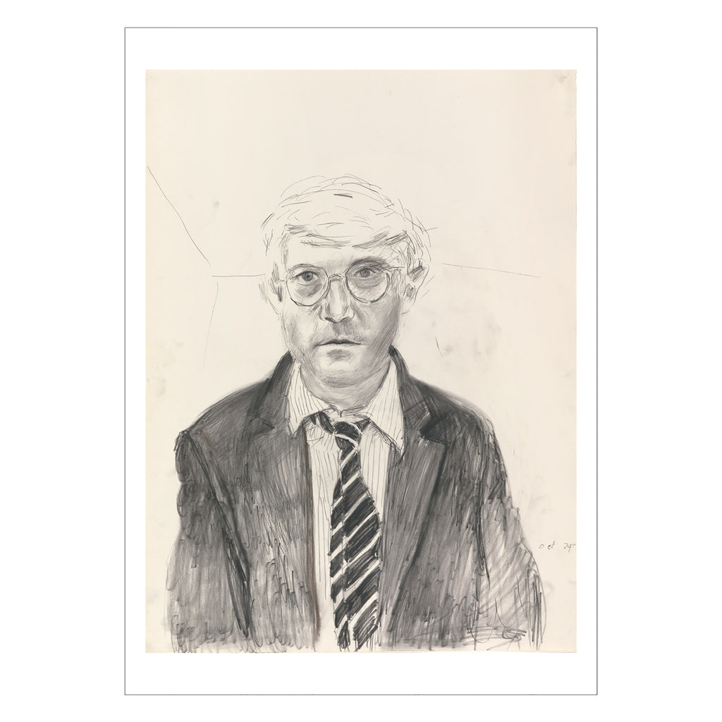Hockney - <i>Self Portrait Oct 24th</i> - Postcard
