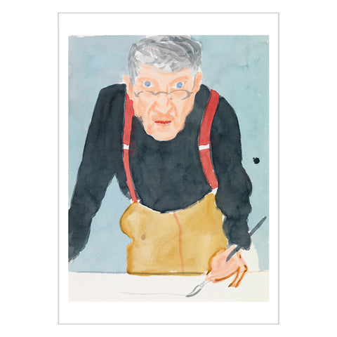 Hockney - <i>Self Portrait with Red Braces</i> - Postcard