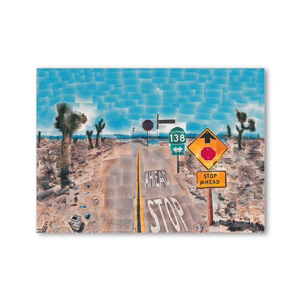 Hockney  - <i>Pearblossom Hwy., 11-18th April 1986, #2</i> - Postcard
