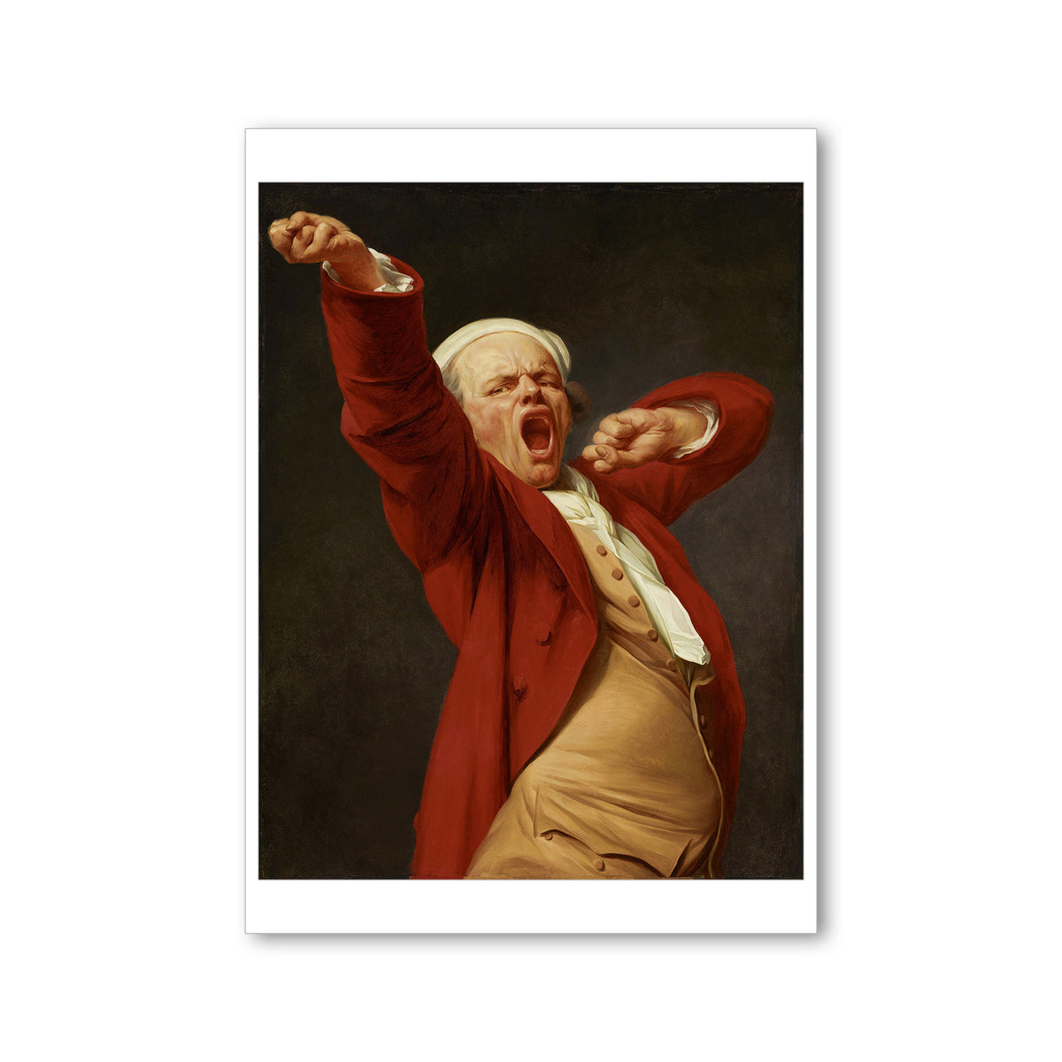 Decreux, Self Portrait Yawning Postcard | Getty Store