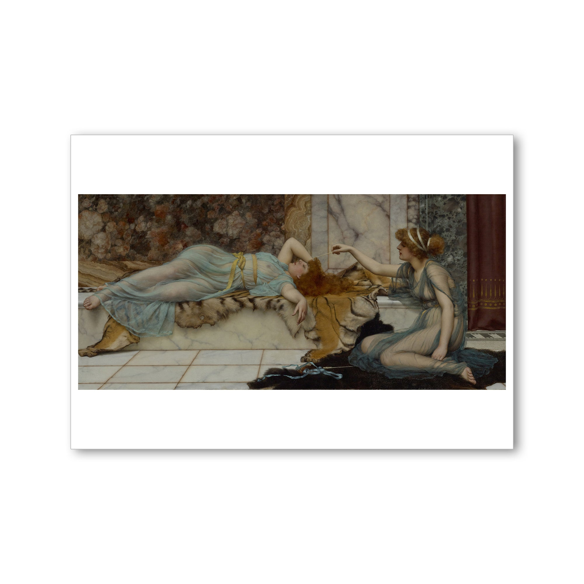 Godward-Mischief and Repose-Postcard | Getty Store