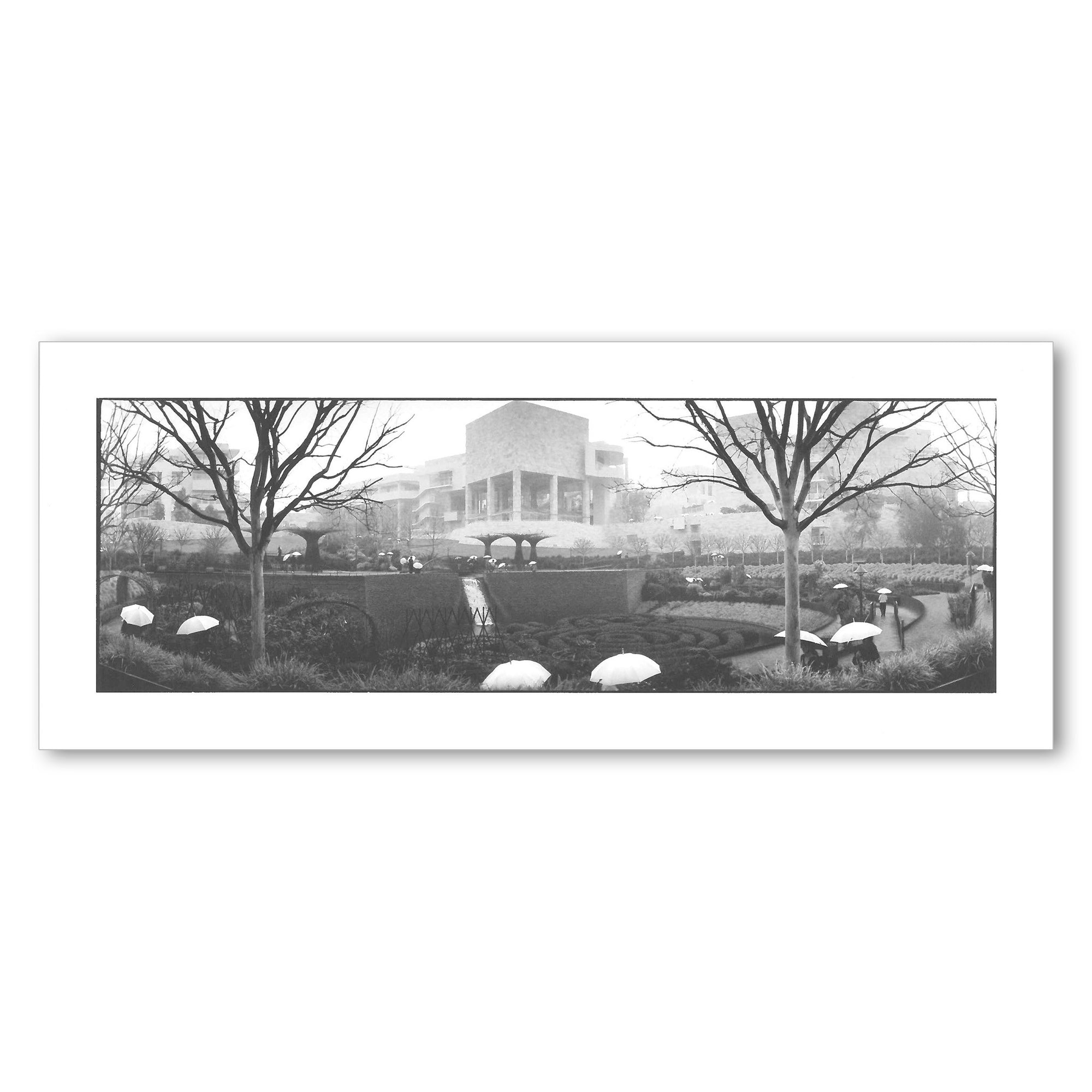 The Central Garden at the Getty Center Panoramic Postcard | Getty Store