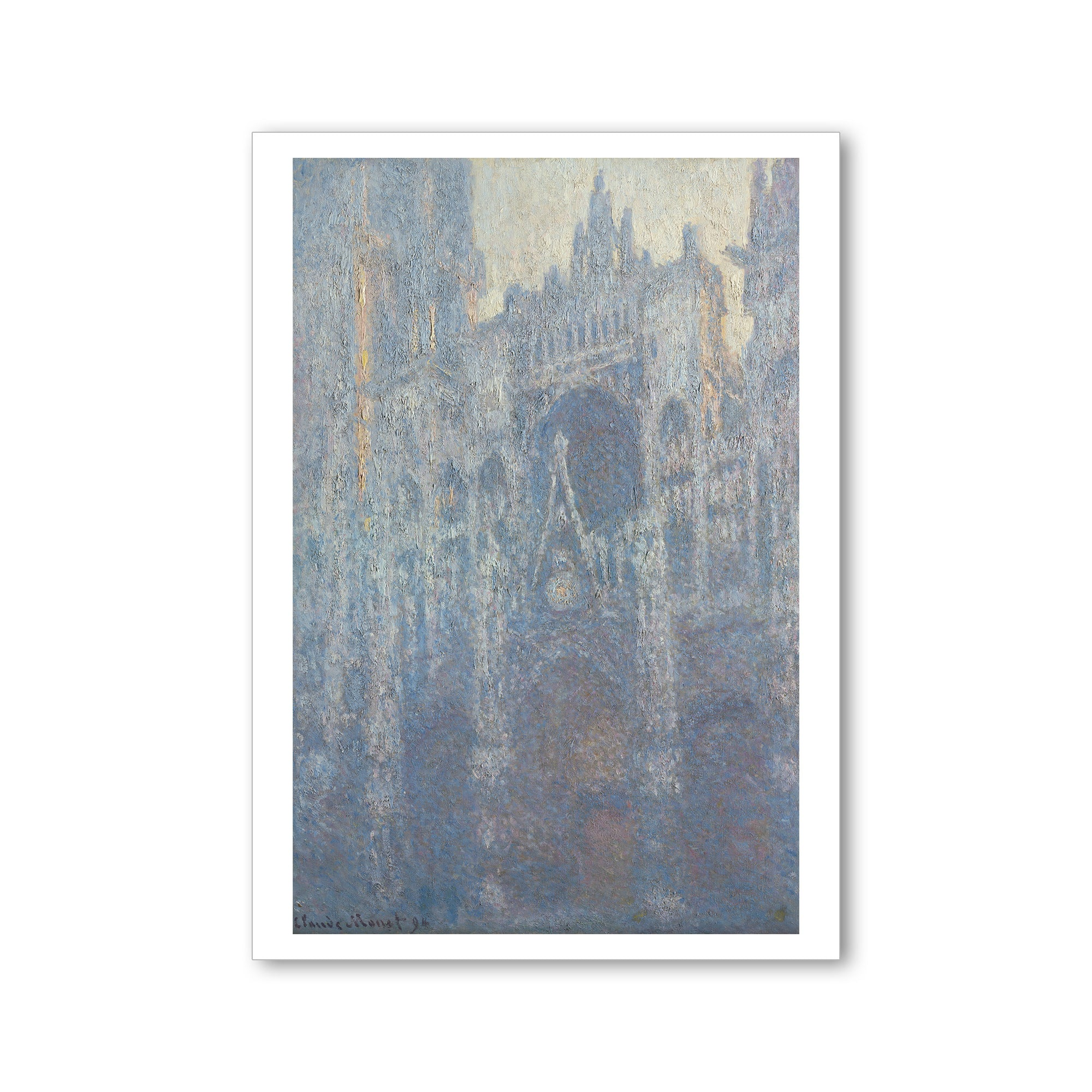 Monet- Portal of Rouen Cathedral in Morning Light- Postcard | Getty Store
