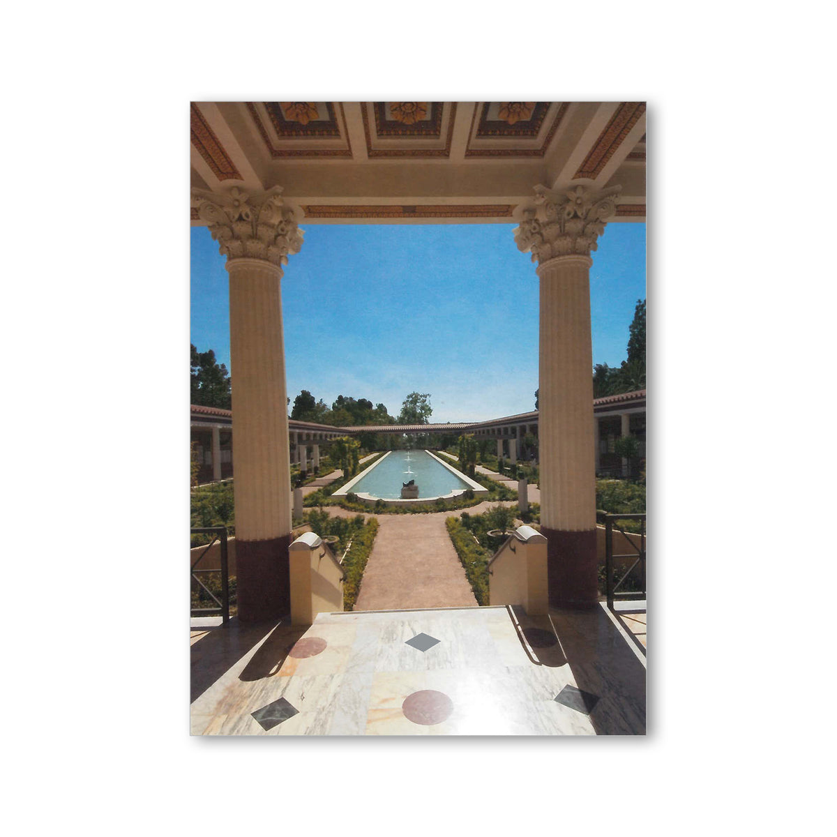 Getty Villa-South Facing View of Outer Peristyle Postcard | Getty Store