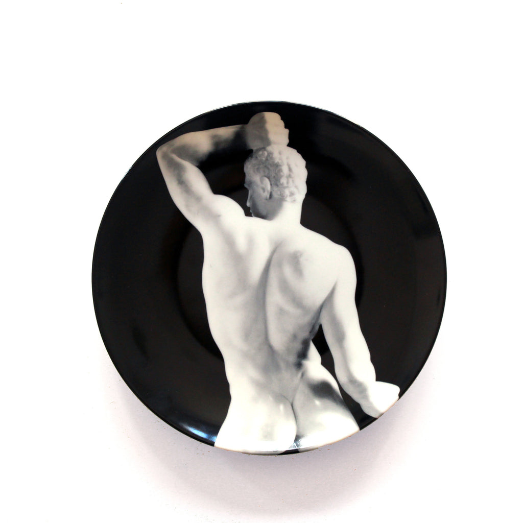 Limoges Porcelain Plate - <i>The Wrestler</i> by Robert Mapplethorpe