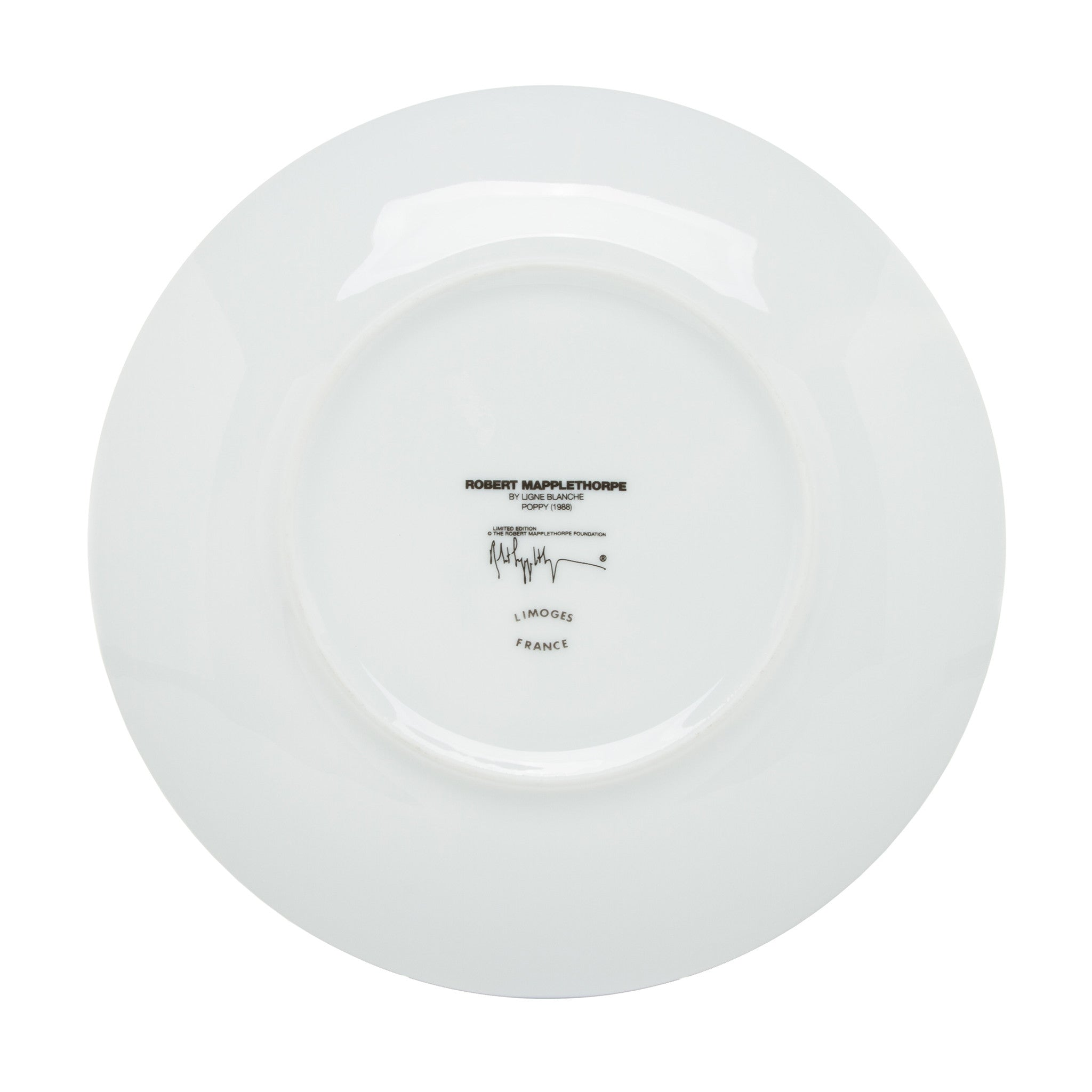 Limoges Porcelain Dinner Plate - Poppy by Robert Mapplethorpe  sc 1 st  The Getty Store & Limoges Porcelain Dinner Plate - Poppy by Robert Mapplethorpe \u2013 The ...