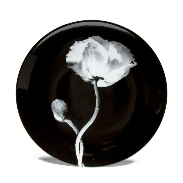 Limoges Porcelain Dinner Plate - <i>Poppy</i> by Robert Mapplethorpe