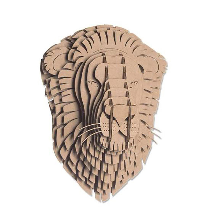 Cardboard Kit - Lion Bust