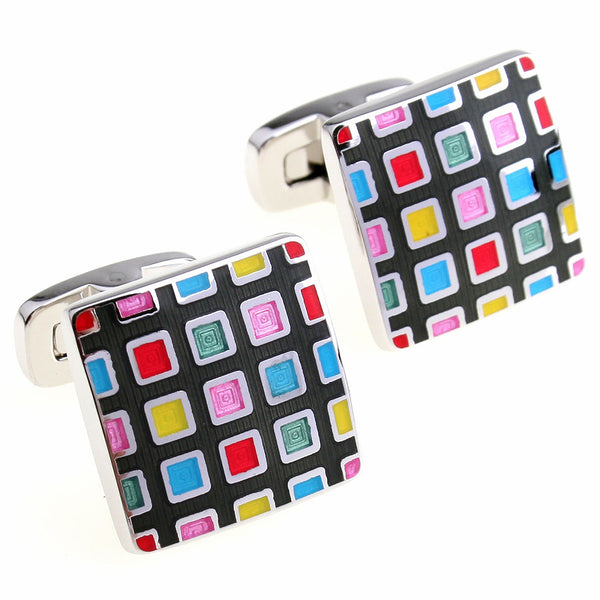 Pixelated Cuff Links