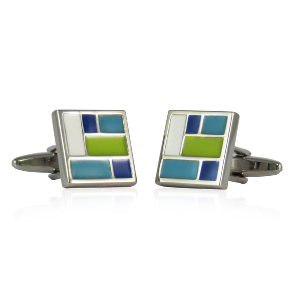 Patchwork Cuff Links