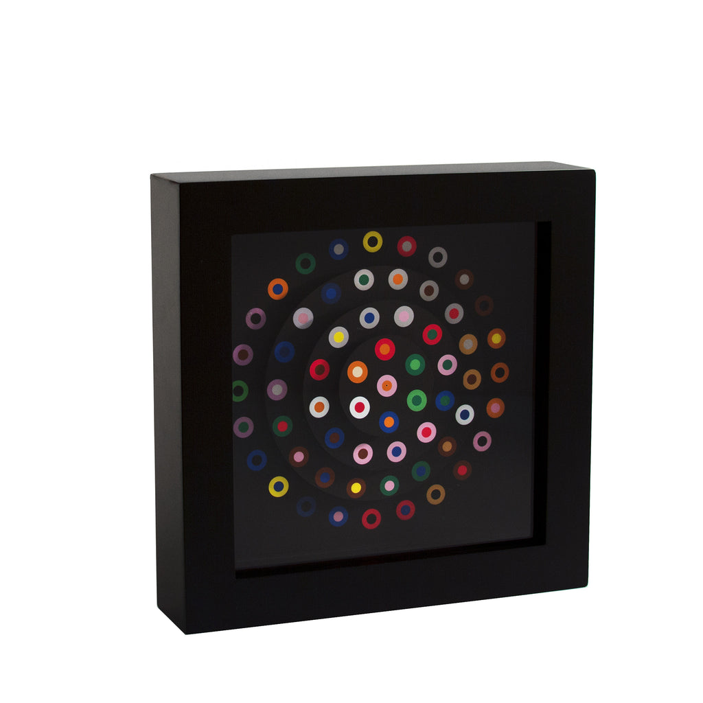 "French Dot Pattern Clock - 9"" Wall Clock"