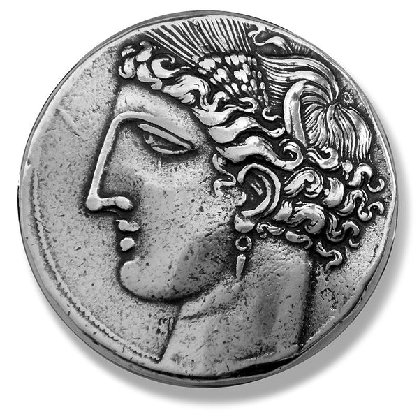 Greek Coin Reproduction - Tanit, Goddess of Carthage and Pegasus