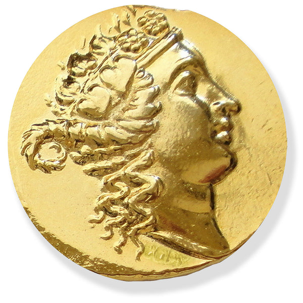 Greek Gold Coin Dionysos