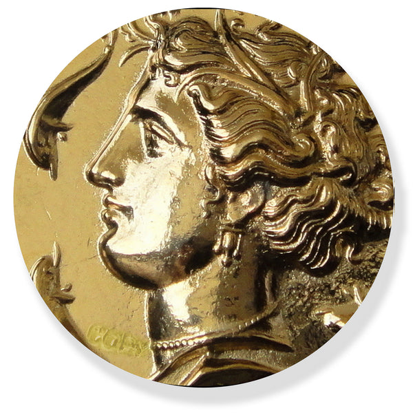 Greek Gold Coin reprodution Persephone