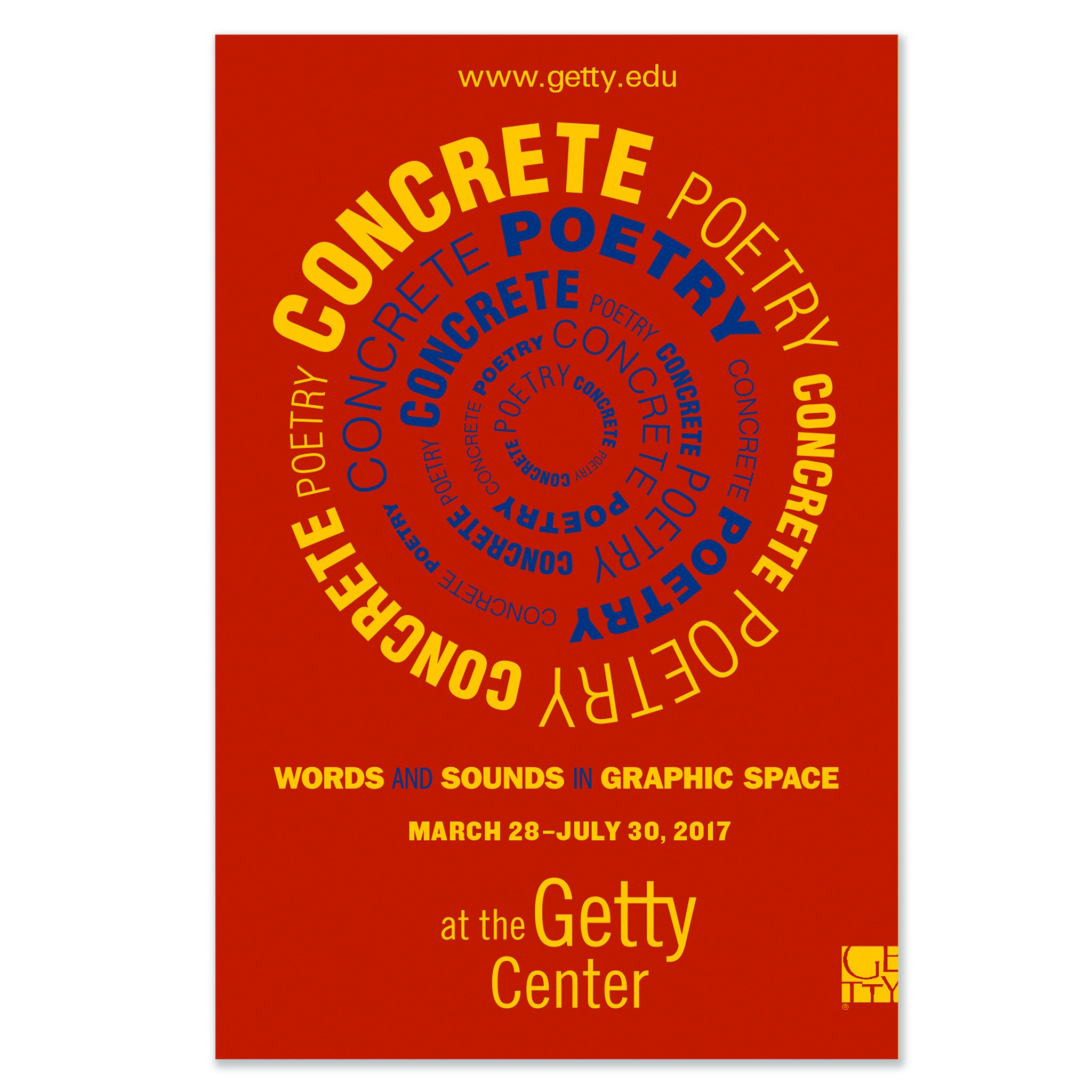 Concrete Poetry Exhibition Poster - Red – The Getty Store