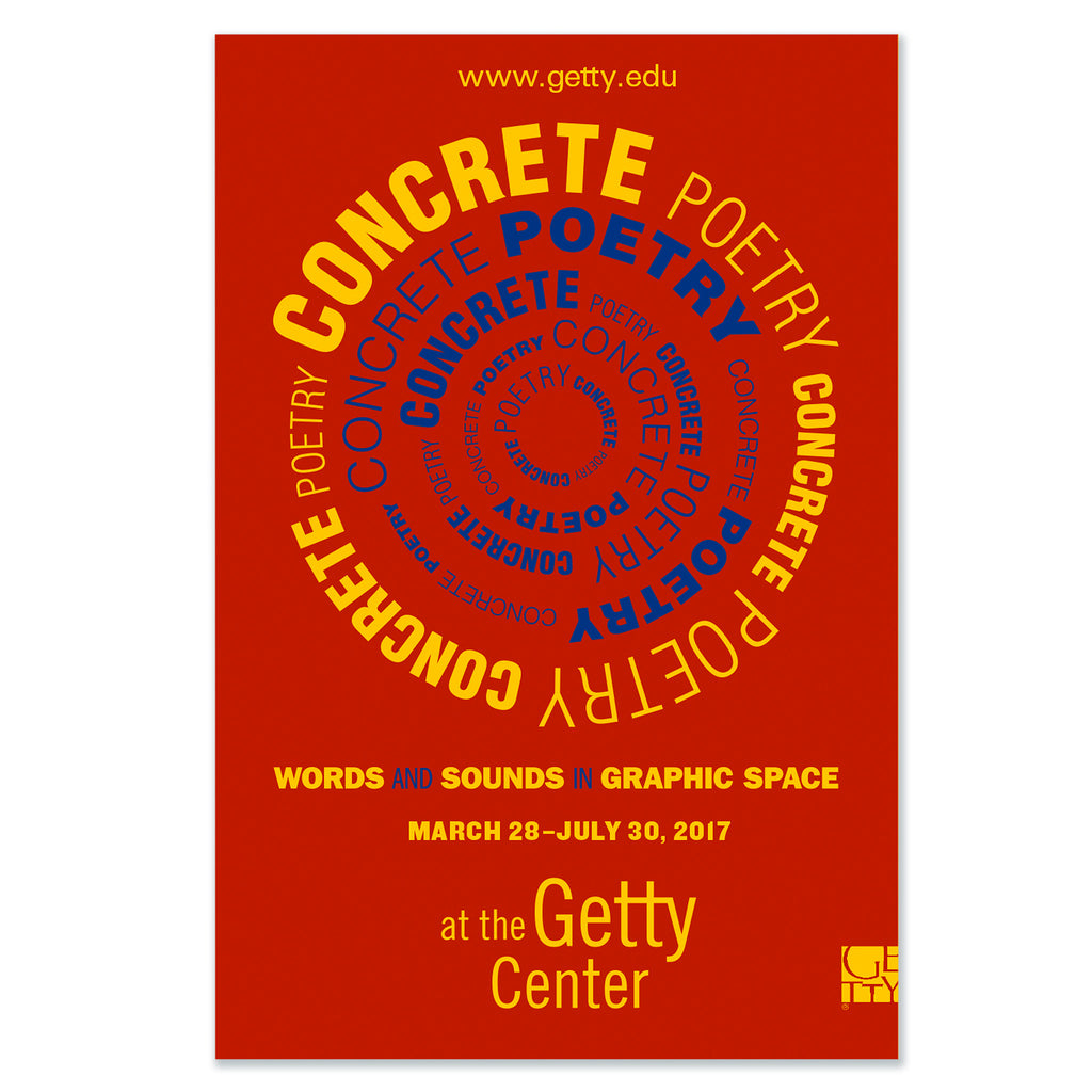 Concrete Poetry Exhibition Poster - Red
