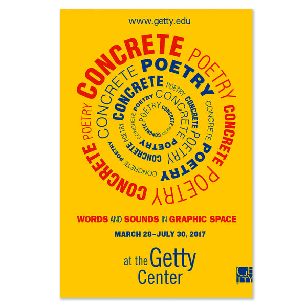 Concrete Poetry Exhibition Poster - Yellow