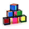 Vasa Small Multicolor Acrylic Cube -sold Individually-Multiple cubes shown in pyramid stack | Getty Store