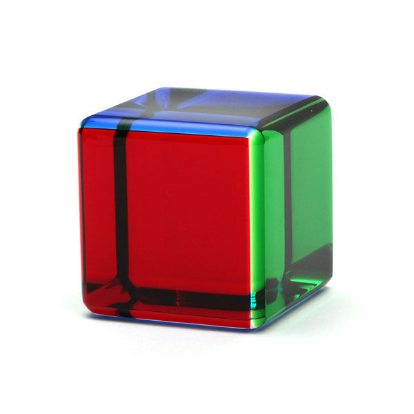 vasa small multicolor acrylic cube the getty store. Black Bedroom Furniture Sets. Home Design Ideas