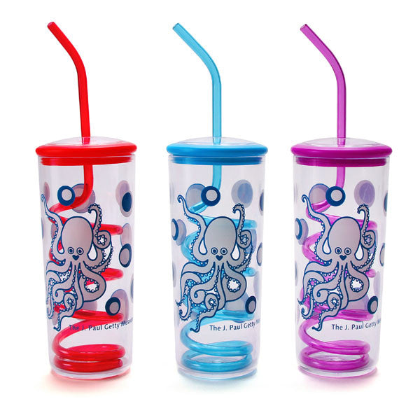 Octopus Silly Straw Cup