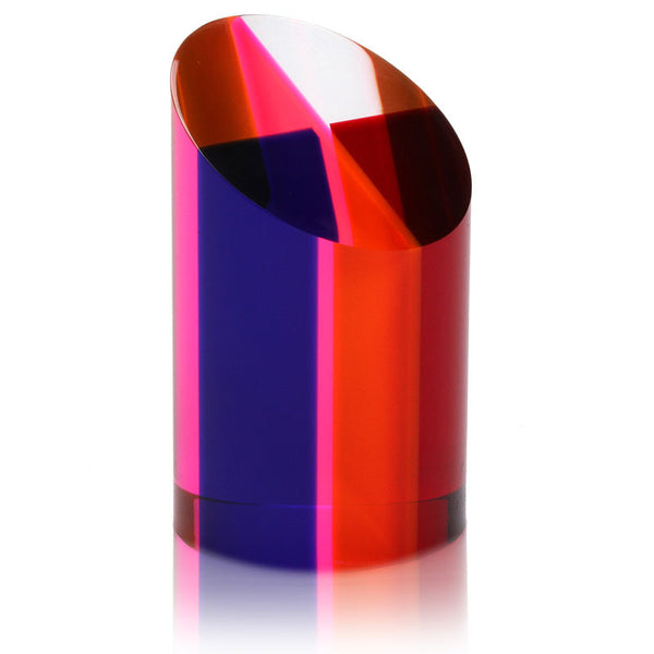 "Vasa Small Cylinder Cast Acrylic Sculpture (4"" H)"