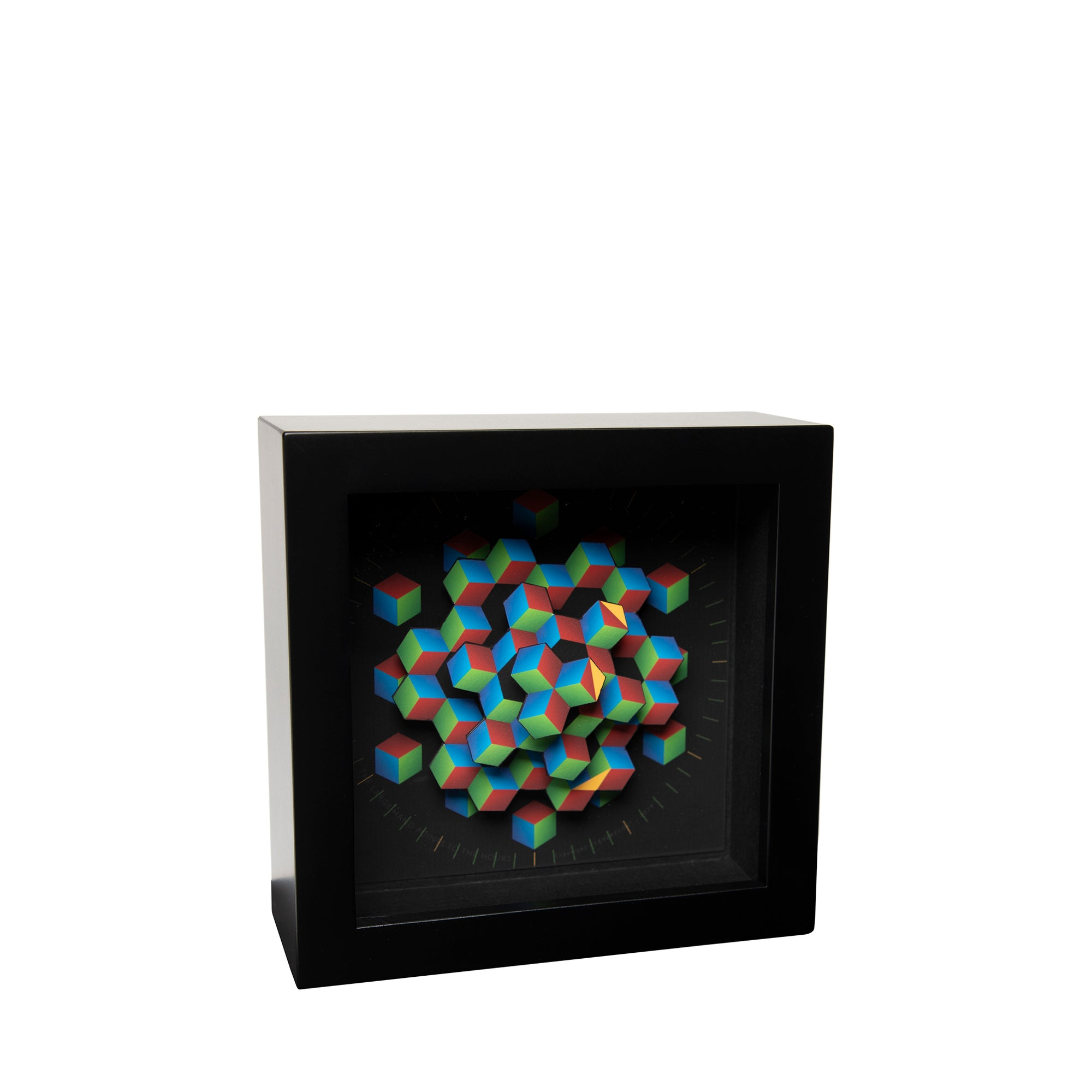 Colorful Hexagon Desk Clock - 5.5"