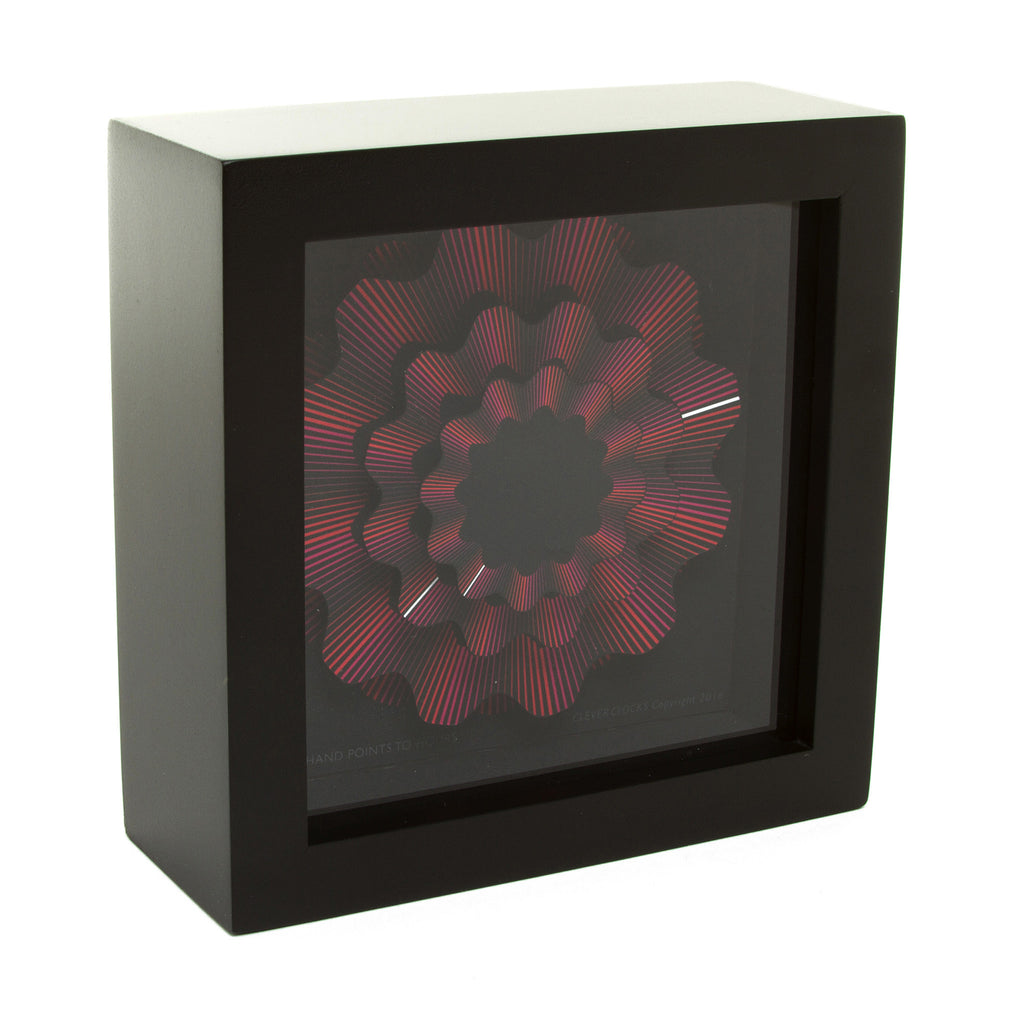Red Ribbon Desk Clock - 5.5""