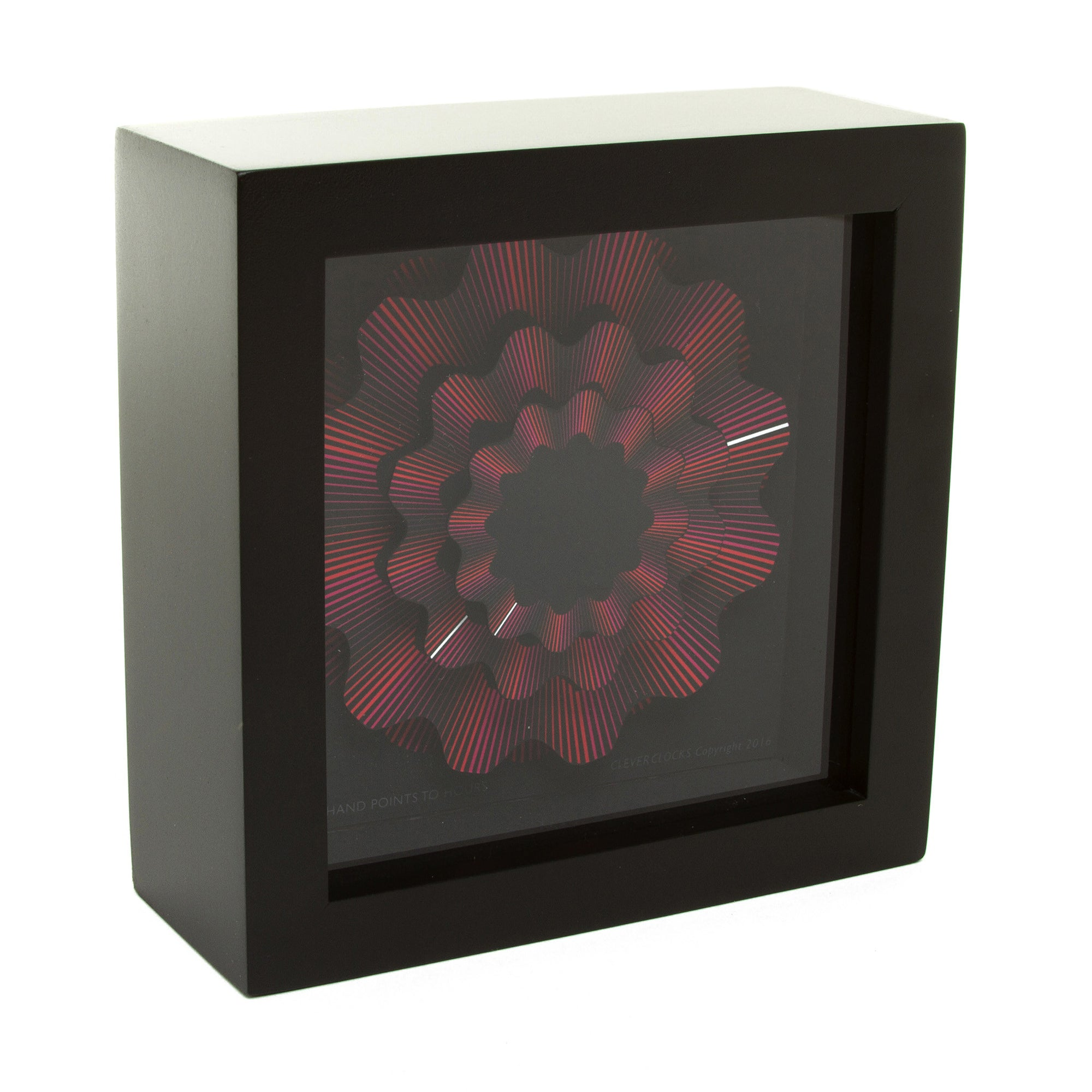 Red Ribbon Desk Clock - 5.5"
