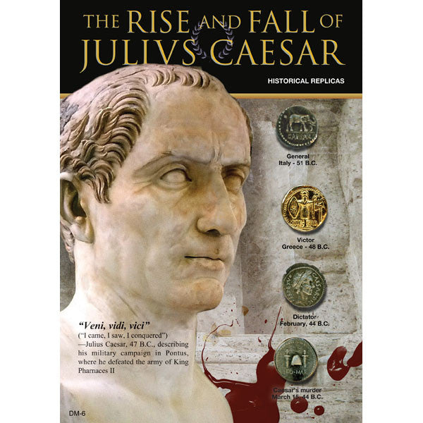 Set of Historical Replicas of Julius Caesar Coins
