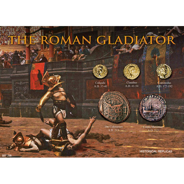 Roman Gladiator Reproduction Coin Set