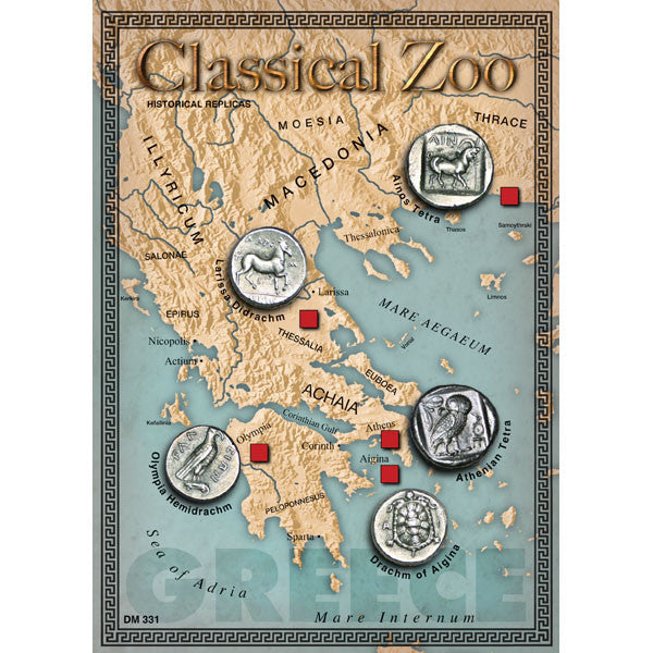 Ancient Greece Classical Zoo Reproduction Coin Set