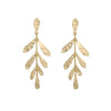 Shimmering Leaf Drop Earrings
