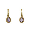 Vermeil and Amethyst Drop Earrings