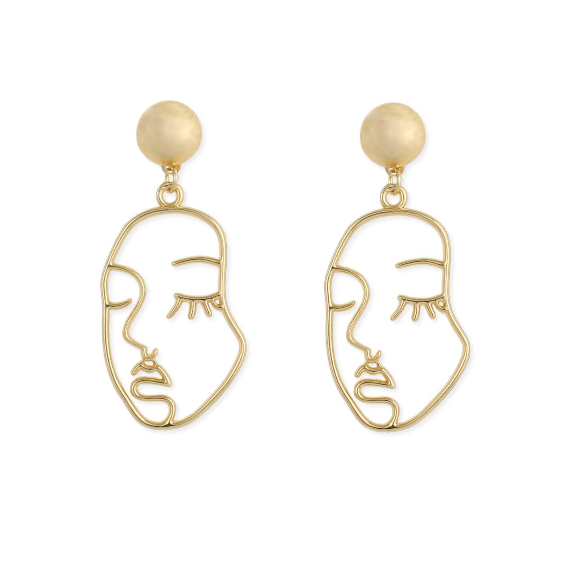Abstract Portrait Earrings | Getty Store