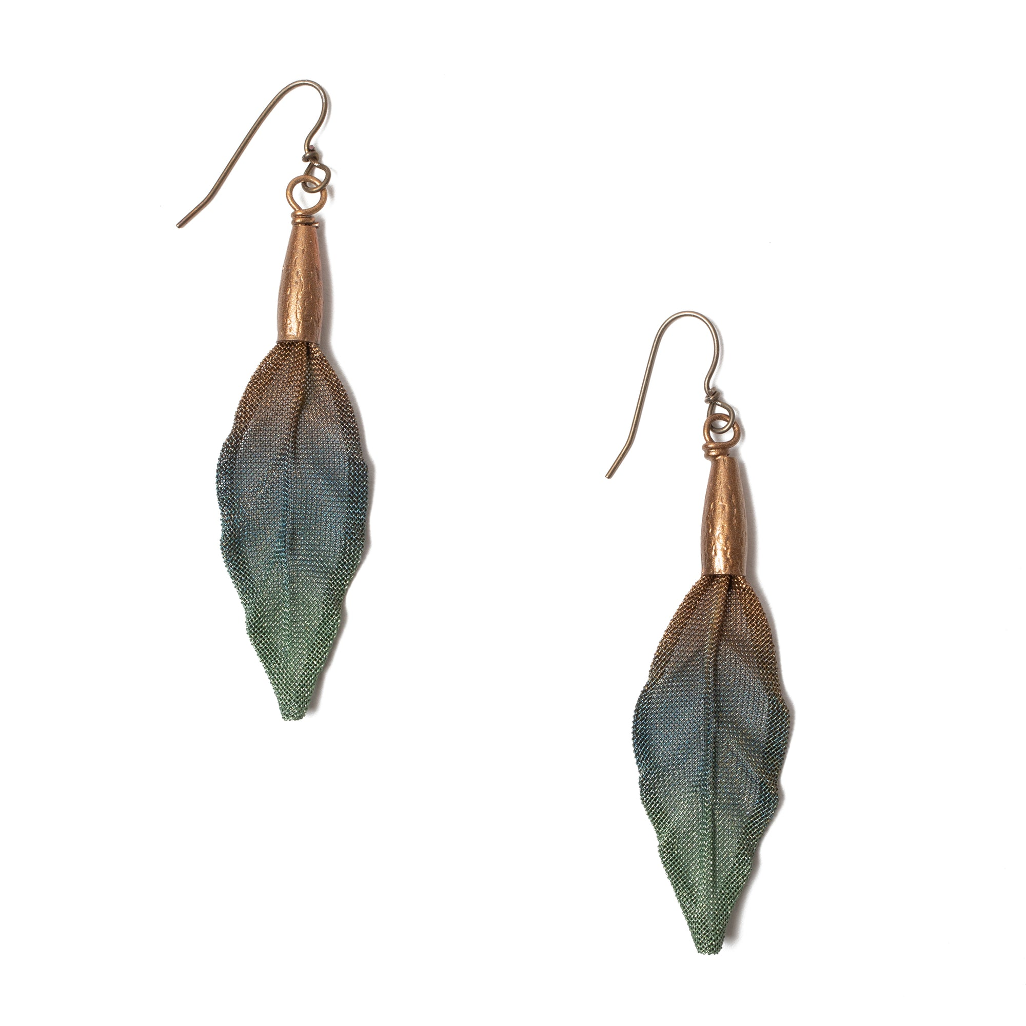 Poppy Leaf Earrings