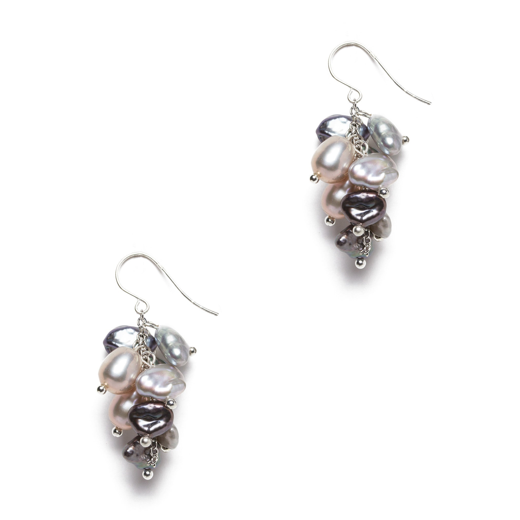 earrings pure pearls seed pearl peral white