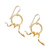 Snake Earrings- Gold Plated  | Getty Store