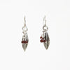 Pomegranate Leaf Earrings with Garnet Clusters-Silver Plated  | Getty Store