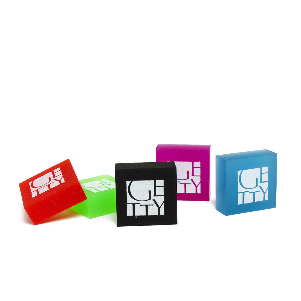 Getty Wordmark Eraser - Set of Five