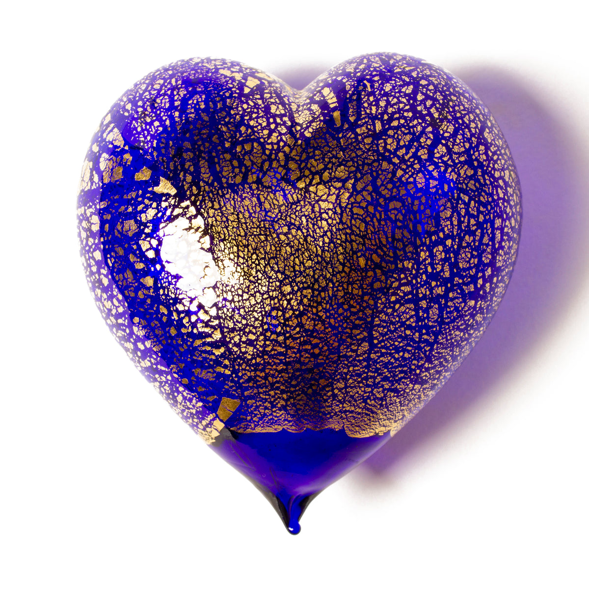 Handblown Murano Glass Heart - Large