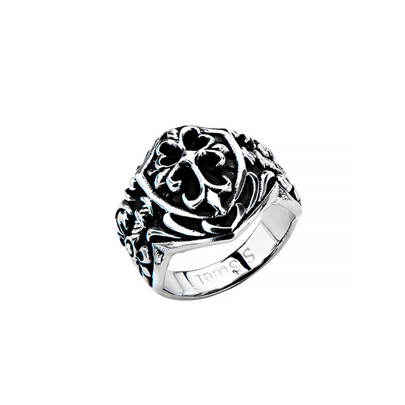 Stainless Steel Shield Ring | Getty Store