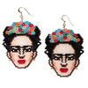 Frida Kahlo Beaded Earrings