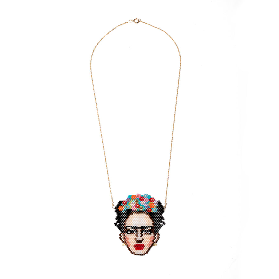 Frida Kahlo Beaded Necklace