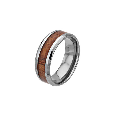 Titanium Ring with Koa Wood