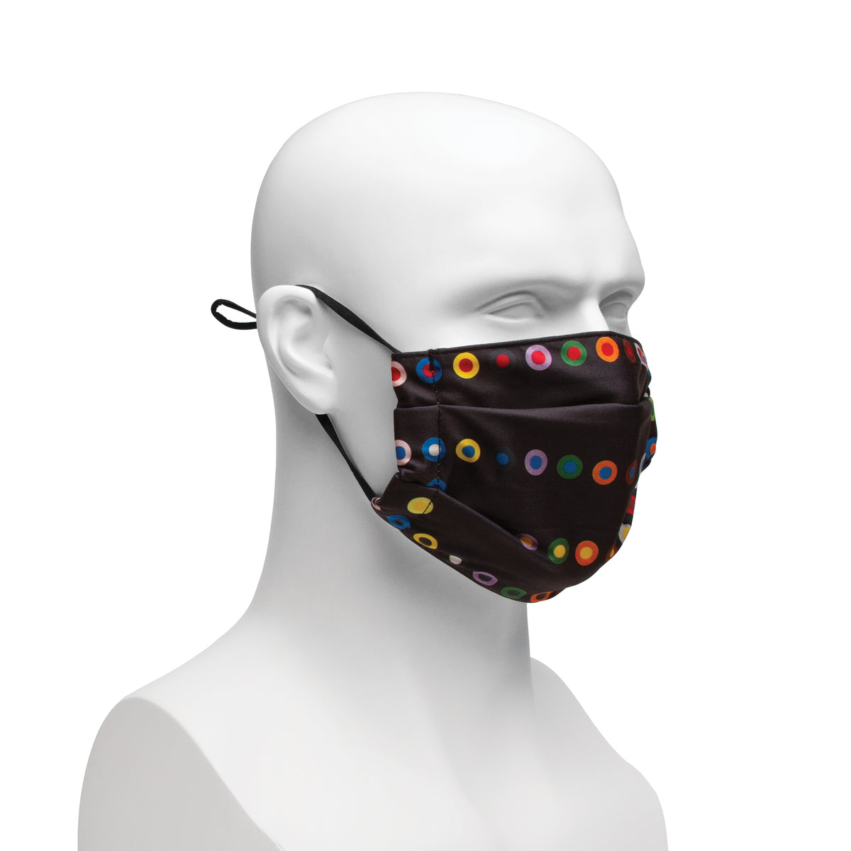 Cloth Face Covering - Black French Dot Pattern