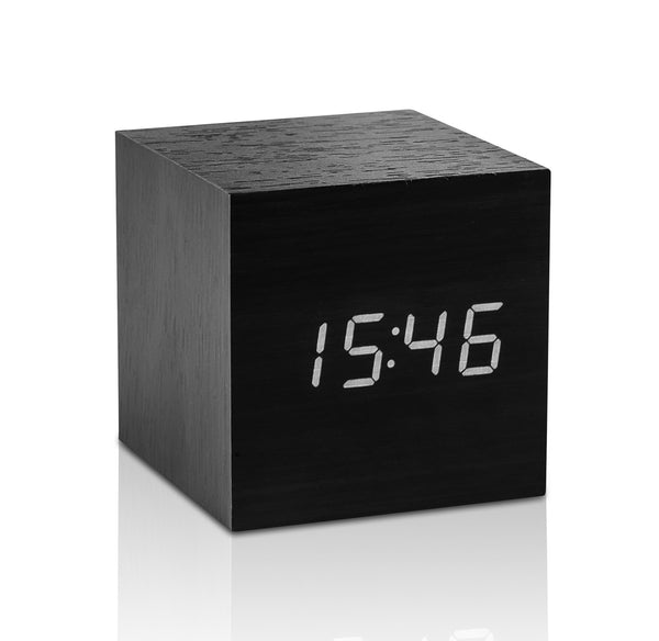 Cube Click Clock - Black