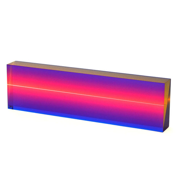 Vasa Rectangle with Glowing Center Cast Acrylic Sculpture