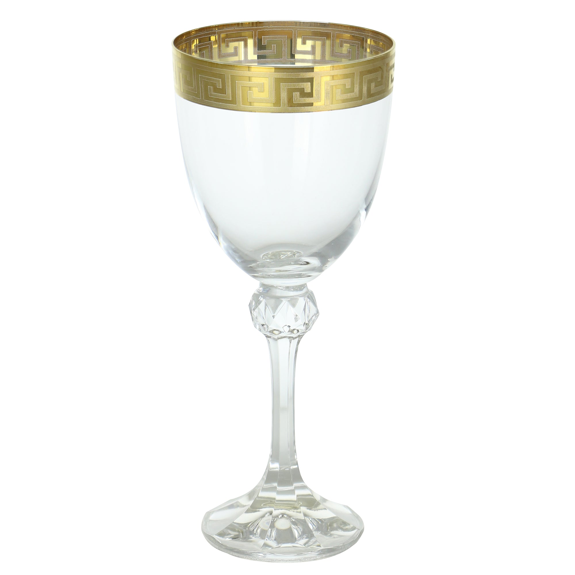 Wine Glass- Greek Key Design | Getty Store