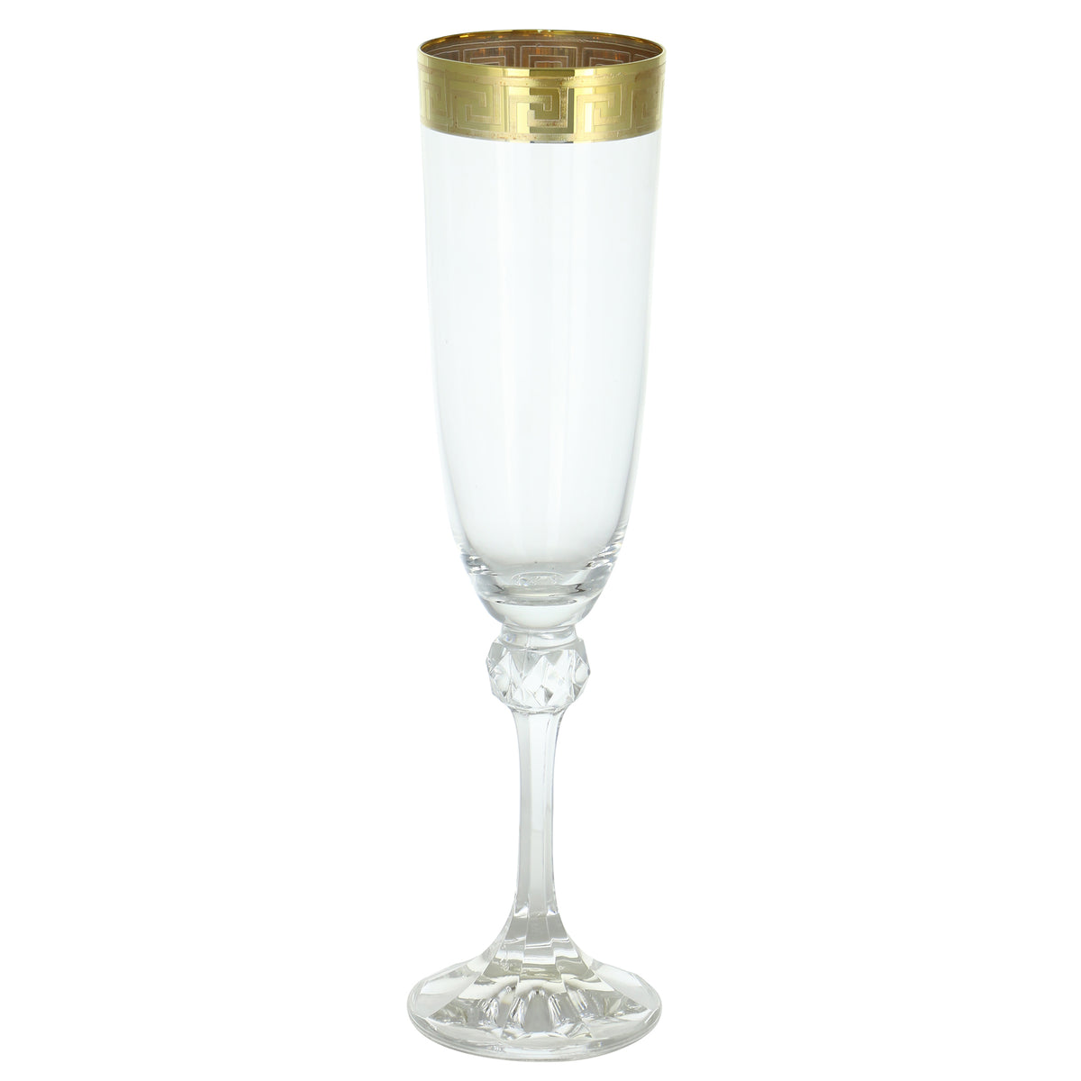 Champagne Flute- Greek Key Design  | Getty Store