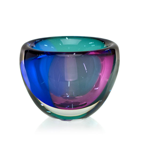Glass River Rock Bowl - Purple/Blue/Teal - Harrie Art Glass